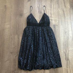 Milly of NY Blue Black Velvet Sleeveless Dress 4